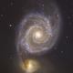 The Whirlpool Galaxy - RGB - Liverpool Telescope,                                Julien Lana