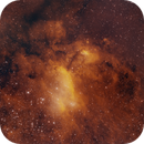 Prawn Nebula (IC 4628, NB version) - QHY163M First Light,                                Eduardo Oliveira