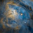 Lagoon Nebula (M8) in Hubble Palette,                                Stuart Goodwin