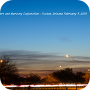 Mars and Mercury Conjunction from Tucson,                                Tox_Man
