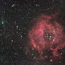 NGC2244 Rosette Nebula and Comet C/2013 V5 (Oukaimeden) ,                                Kevin Parker