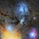 Rho Ophiuchi central region,                                Ray Blais