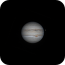 Jupiter and Europa on August 11, 2020 - Animated GIF,                                JDJ