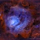 Messier 8 - Bicolorized,                                Gerson Pinto