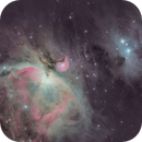 M42 and NGC 1975 (Orion and the Running Man Nebulae),                                Josh Woodward