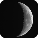 Crescent Moon of August 17, 2017 - DSLR in Drizzle 1.5x mode,                                Ray Caro