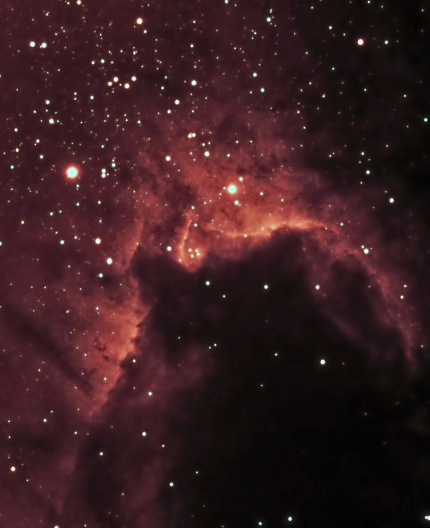 Cave Nebula in H alpha,                                keving