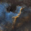 NGC 7000 - North American Nebula and Cygnus Wall in SHO,                                JohnAdastra