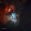 M17 (THE OMEGA NEBULA) & M18 (THE BLACK SWAN CLUSTER),                                Shaun Robertson