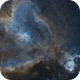 IC1805 - Heart Nebula - SHO Combination,                                Julien Lana