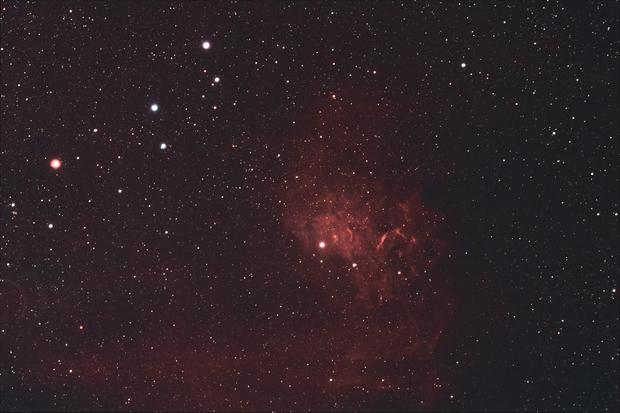 IC 405 - Flaming Star Nebula,                                AlbertNewland