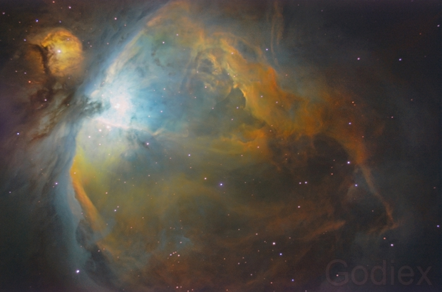 M42 in Hubble palette,                                Diego Gravinese