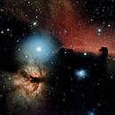IC 434, the Horsehead nebula and NGC 2024, the Flame nebula,                                Kevin Wigell