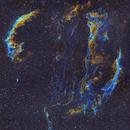 Veil nebula - West C34/Ced182a/NGC6960/LBN191/PGC3517684 and East C33/Ced182b/IC1340/NGC6992/NGC6995 (c-sho) two panel mosaic,                                Ram Samudrala