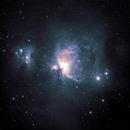 Orion: Mono to Color via false RGB,                                AcmeAstro