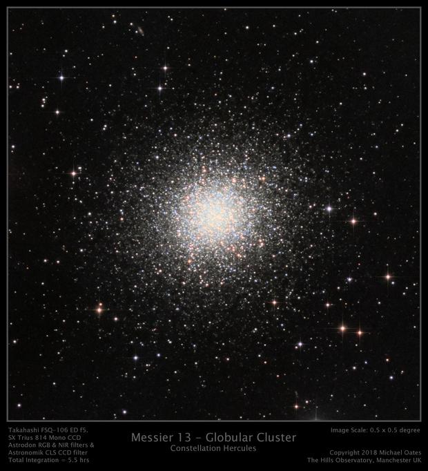 Messier 13 - Globular Cluster,                                Mike Oates