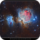 Brown nebulosity enhanced reprocessed M42 HDR Image,                                Kees Scherer