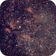 The Sadr region: IC1318, NGC6888, Barnard 145 - Wide Field,                                gigiastro
