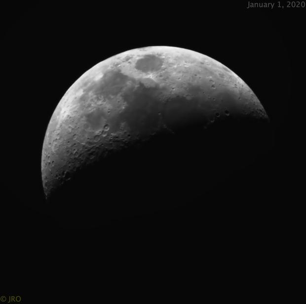 New Year Moon,                                Tom's Pics