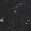 Gemini triforce - M35 / Jellyfish / Monkey Head,                                spacetimepictures