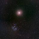Venus and the Pleiades in April 2020,                                JDJ