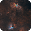 Cosmic birds - Eagle and Swan (Omega) nebulae,                                Sendhil Chinnasamy