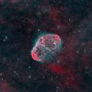 Crescent Nebula, NGC 6888 in HOO,                                Andrew Barton