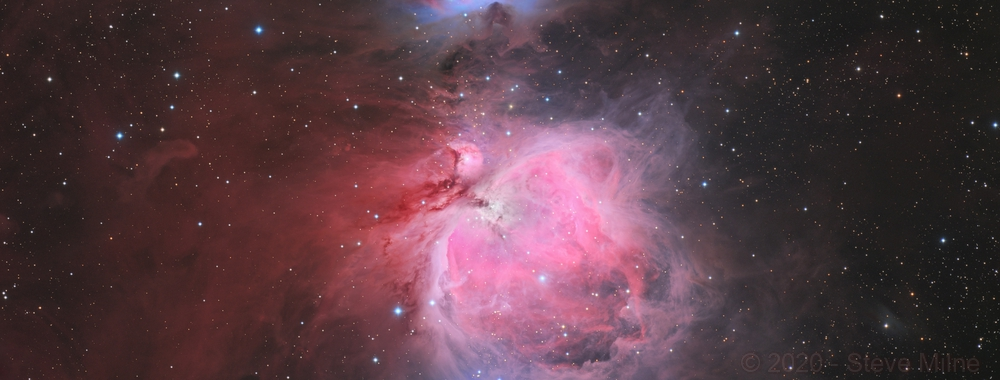 The Great Orion Nebula - 4 panel mosaic,                                Steve Milne