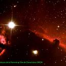 Nébuleuse de la Flamme ( NGC2024 ) et Nébuleuse de la Tète de Cheval (Barnard 33 et IC434 ),                                Maxou034