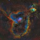 IC1805 - Heart Nebula in SHO-LRGB,                                equinoxx
