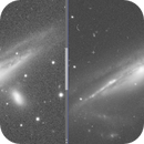 NGC 1532 - a comparison of different image scales,                                Niall MacNeill