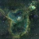 IC1805 The Heart Nebula (Hubble Palette),                                Petri Kiukas