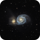 M51 and NGC 5195 - Whirlpool Galaxy,                                rex.on.life