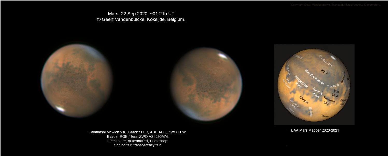 Mars, ZWO ASI290MM, 20200922,                                Geert Vandenbulcke