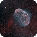 NGC 6888 and Soap Bubble,                                starfield