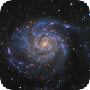 M101: 25 hours of LHaRGB from Bortle 5/6 skies,                                Alex Pinkin
