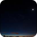 Sunset with Orion over Papeete,                                TC_Fenua