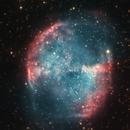Dumbbell nebula  -  attempt with few expos,                                László Szeri