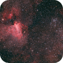 The Swan Nebula and M18,                                Poochpa