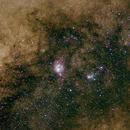 Lagoon and Trifid Nebulas,                                Q