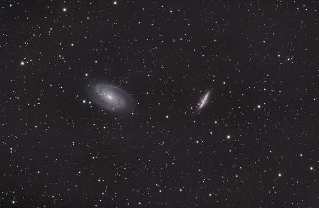 """M81 & M82 """"wide field"""" from urban Denver,                                Ken Sturrock"""