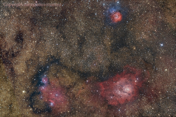M8 and M20 - NGC 6559 ,                                astrogades-maritxu