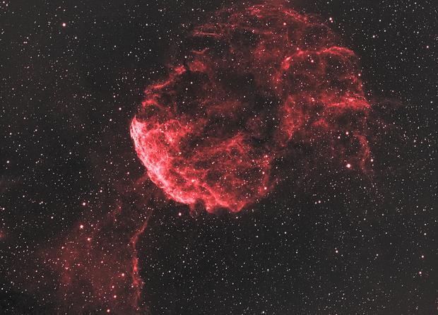 IC 443 - Jellyfish Nebula in Ha (Hummus Nebula),                                nerdybeardo