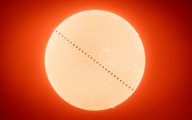 ISS Solar Transit - November 2nd from Chattanooga, Tennessee,                                Matt Harbison