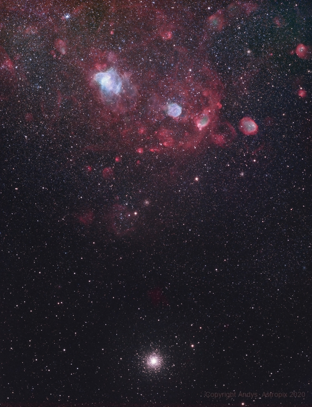 Meet the Neighbours - NGC 362 & Friends in the SMC,                                Andy 01