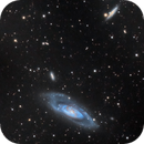 M106 wide field of galaxies with IFN, detail,                                Aleix Roig