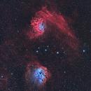 Flaming Star and Tadpole Nebulae (HOO),                                drivingcat