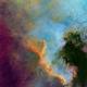 NGC 7000 - Hubble Palette - Two-Panel Mosaic,                                Eric Coles (coles44)