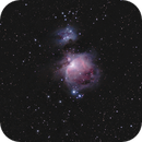 Great Orion Nebula and Running Man - my first picture,                                Fritz