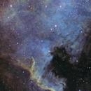 North American Nebula NGC7000 in SHO,                                Jeff